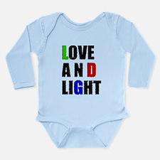 Love and Light Long Sleeve Infant Bodysuit