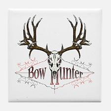 Bow hunter,deer skull Tile Coaster