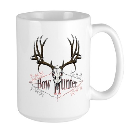 Bow hunter,deer skull Large Mug