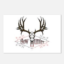 Bow hunter,deer skull Postcards (Package of 8)