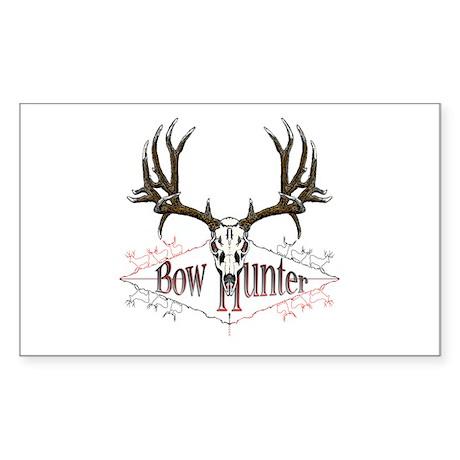 Bow hunter,deer skull Sticker (Rectangle)