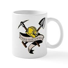 coal miner mining Small Mug