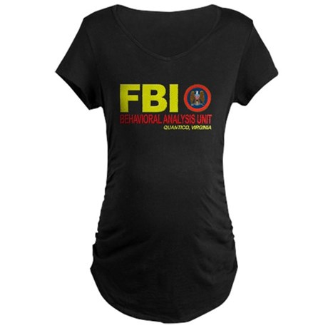 Criminal Minds FBI BAU Maternity Dark T-Shirt