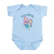 Cute Mermaids Big Sister Infant Bodysuit