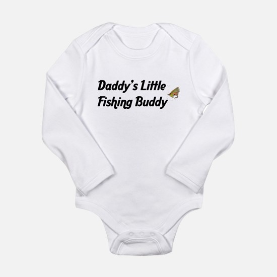 Daddy's Little Fishing Buddy Long Sleeve Infant Bo