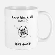 Super Awesome Broke Compass Mug