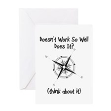 Super Awesome Broke Compass Greeting Card