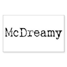 McDreamy Rectangle Decal