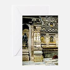 Praying Monk in Bodhgaya Greeting Card