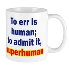 Admitting Errors Mug