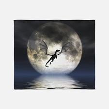 Dragon Moon Throw Blanket Cover