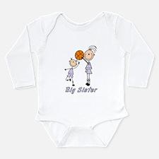 Stick Basketball Big Sister Long Sleeve Infant Bod