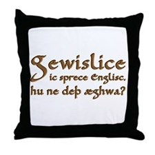 I Speak Old English Throw Pillow