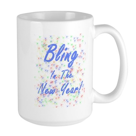 Bling in the New Year! Large Mug