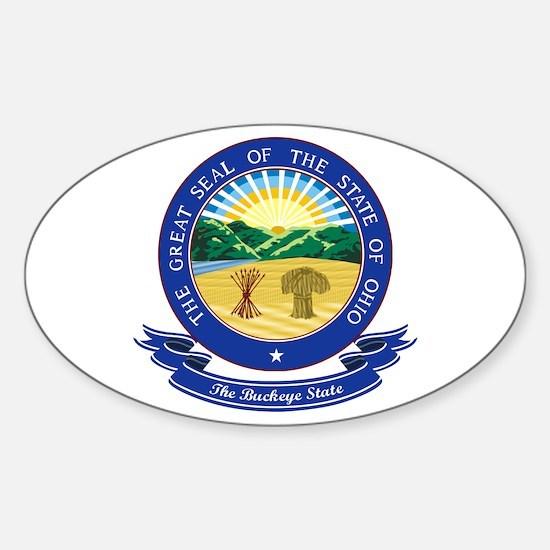 Ohio Seal Sticker (Oval)