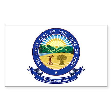 Ohio Seal Sticker (Rectangle)