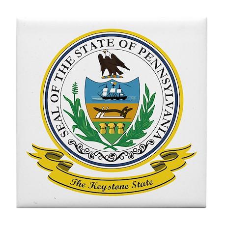 Pennsylvania Seal Tile Coaster
