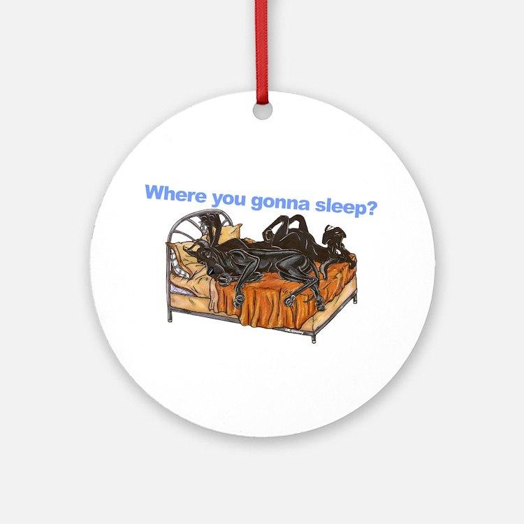 2Blks Where You Gonna Sleep Ornament (Round)