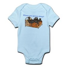 2Blks Where You Gonna Sleep Infant Bodysuit