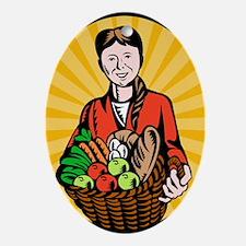 organic farmer Ornament (Oval)