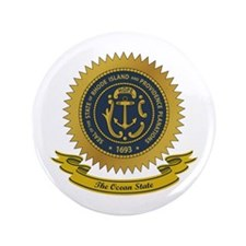 "Rhode Island Seal 3.5"" Button"