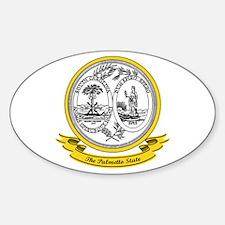 South Carolina Seal Sticker (Oval)