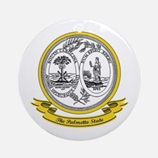 South Carolina Seal Ornament (Round)