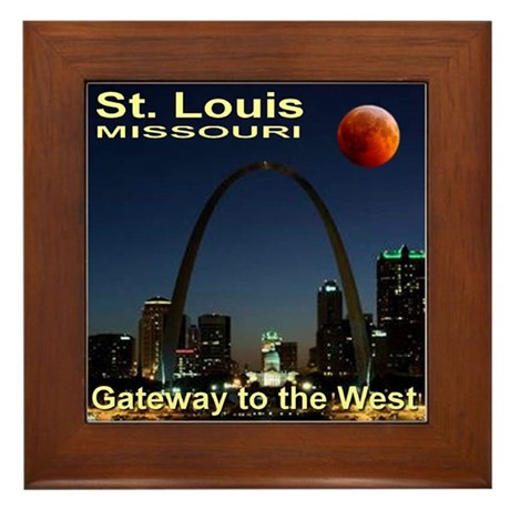 St. Louis Gateway To The West Framed Tile