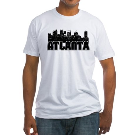 Atlanta Skyline Fitted T-Shirt