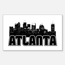 Atlanta Skyline Sticker (Rectangle)