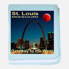 St. Louis Gateway To The West baby blanket
