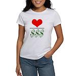Love Over Money Women's T-Shirt
