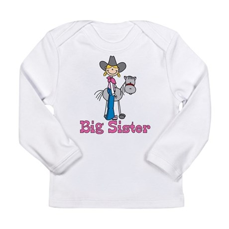 Stick Cowgirl Big Sister Long Sleeve Infant T-Shir