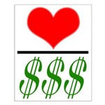 Love Over Money Small Poster