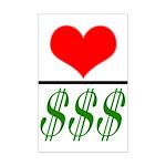 Love Over Money Mini Poster Print