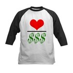 Love Over Money Kids Baseball Jersey