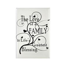 Love of Family Rectangle Magnet