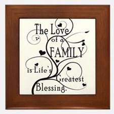 Love of Family Framed Tile