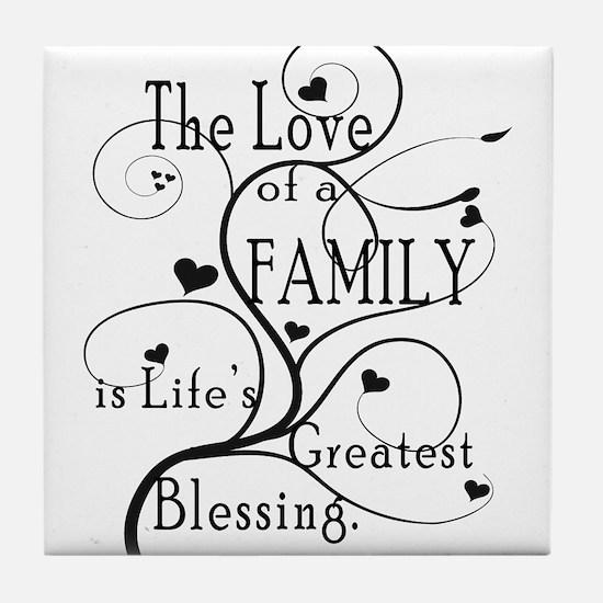 Love of Family Tile Coaster