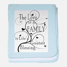 Love of Family baby blanket