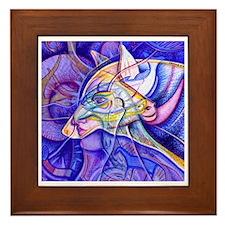 Eagle Wolf Framed Tile