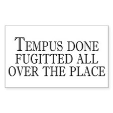 tempus fugitted Rectangle Decal
