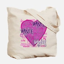 Dance Purple Brocade Tote Bag