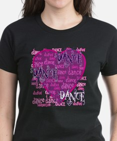 Dance Purple Brocade Tee