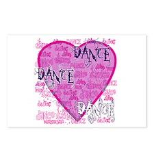 Dance Purple Brocade Postcards (Package of 8)