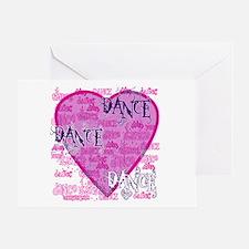 Dance Purple Brocade Greeting Card