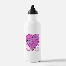 Dance Purple Brocade Water Bottle