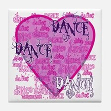 Dance Purple Brocade Tile Coaster