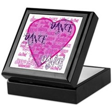 Dance Purple Brocade Keepsake Box