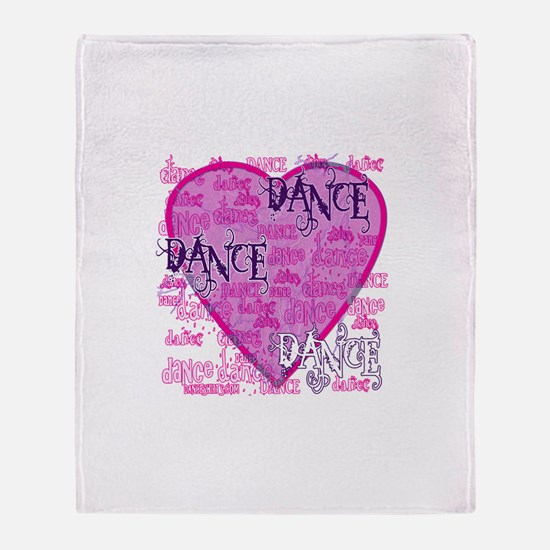 Dance Purple Brocade Throw Blanket